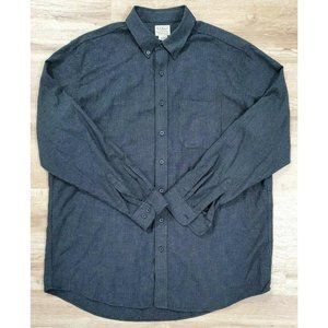L.L. Bean Mens Gray Houndstooth Flannel Shirt XLT